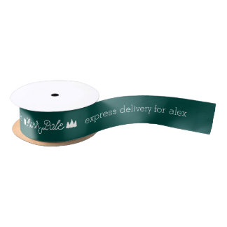 North Pole Express Delivery w/ Name   Christmas Satin Ribbon