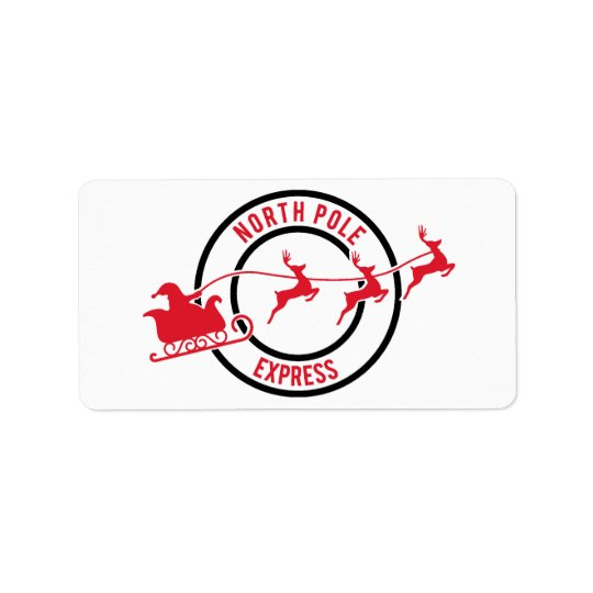 North Pole Express Mail Reindeer Delivery Sticker