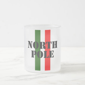 North Pole Frosted Glass Coffee Mug