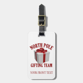 North Pole Gifting Team custom luggage tag