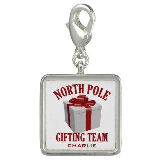 North Pole Gifting Team custom name charm