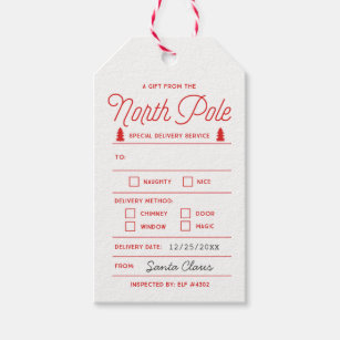 graphic about Free Printable North Pole Special Delivery Printable identified as North Pole Reward Tags Present Enclosures .united kingdom