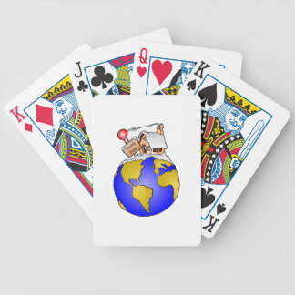 North Pole Home of Santa Bicycle Playing Cards