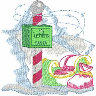 North Pole Mailbox Embroidered Fleece Track Jacket