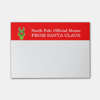 North pole memo from Santa Post-it® Notes