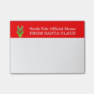 North pole memo from Santa Post-it® Notes