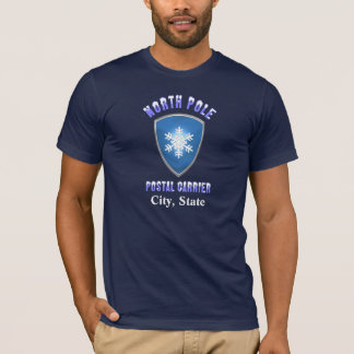 North Pole Postal Chest T Shirt (Customized)