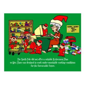 North Pole Retirement Postcard