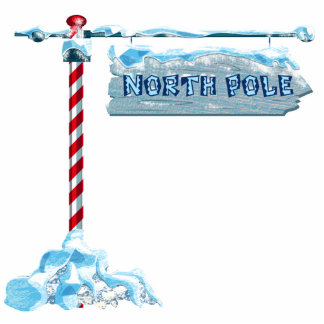 North Pole Sign Wall Mounted Photo Sculpture