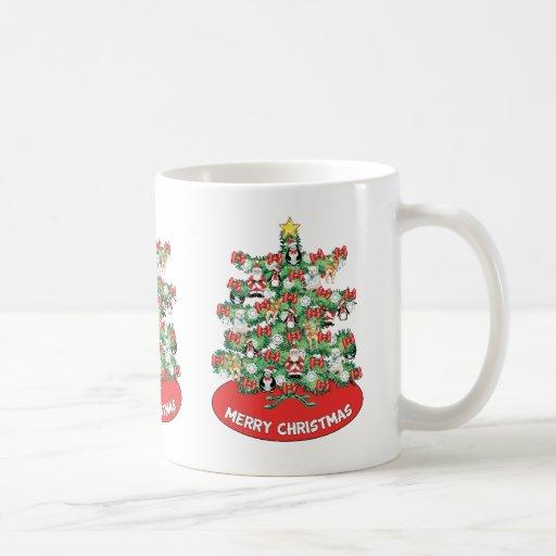 North Pole Themed Mini Ornaments on Christmas Tree Mugs