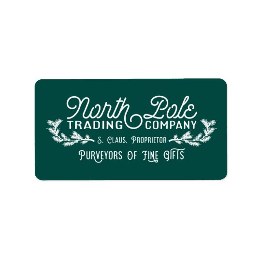 North Pole Trading Company   Christmas Labels