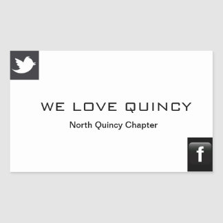 North Quincy,MA Chapter Rectangular Sticker