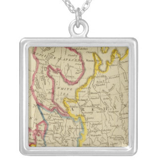 North Russia in Europe Silver Plated Necklace