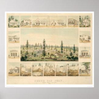 North San Juan, CA. Panoramic Map 1858 (1567A) Poster