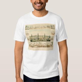 North San Juan, CA. Panoramic Map 1858 (1567A) T-shirt