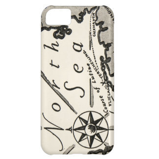 North Sea Map Graphic Bold Compass iPhone 5C Case