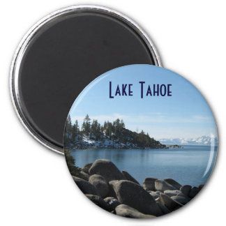 North Shore Lake Tahoe, Incline Village, Nevada 6 Cm Round Magnet