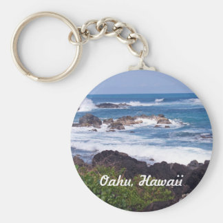 North Shore on the island of Oahu in Hawaii Basic Round Button Key Ring