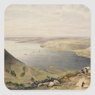 North Side of the Harbour of Sebastopol, plate fro Square Sticker