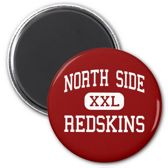 North Side - Redskins - High - Fort Wayne Indiana 6 Cm Round Magnet