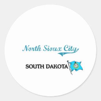 North Sioux City South Dakota City Classic Round Stickers