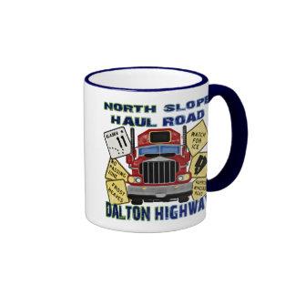 North Slope Haul Road Dalton Highway Ringer Mug