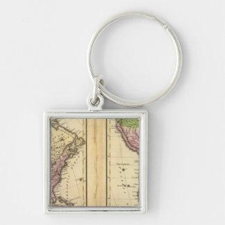 North & South America Key Ring