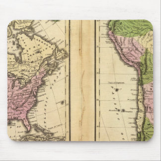 North & South America Mouse Pad