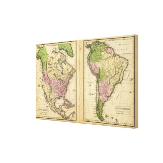 North & South America Stretched Canvas Print