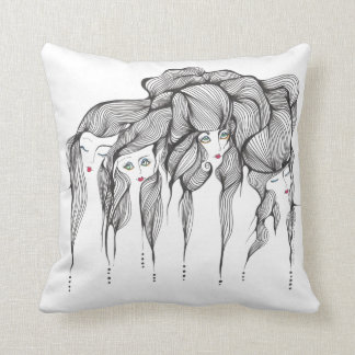 North South East, West Throw Pillows
