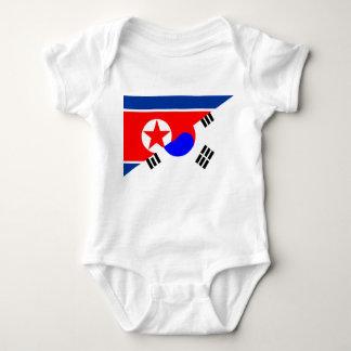 north south korea half flag country symbol baby bodysuit