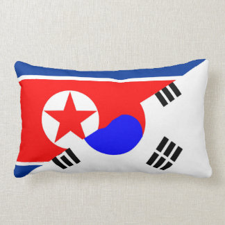 north south korea half flag country symbol lumbar pillow
