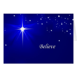 North Star Believe Christian Christmas Greeting Card