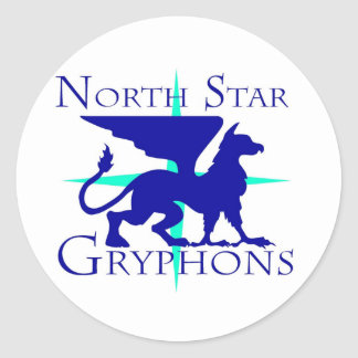 North Star Gryphons Round Sticker