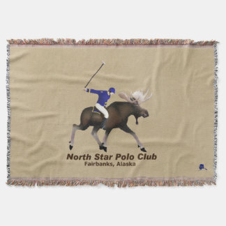 North Star (Moose) Polo Club Throw Blanket