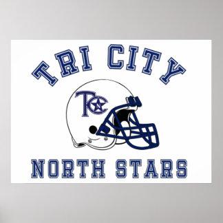 North Stars Retro Poster
