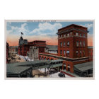 North Station - Railroad Depot Poster
