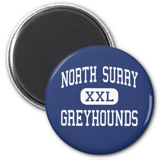 North Surry - Greyhounds - High - Mount Airy Fridge Magnets