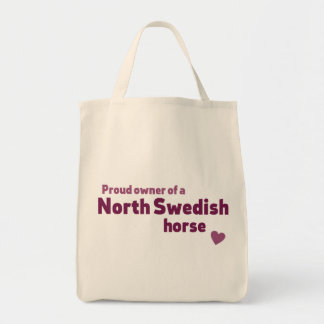 North Swedish horse Grocery Tote Bag