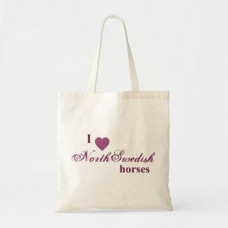 North Swedish horses Budget Tote Bag