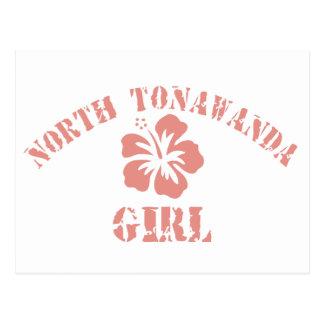 North Tonawanda Pink Girl Post Card