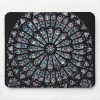North transept rose window mouse mat