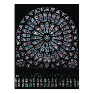North transept rose window postcard