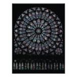 North transept rose window poster