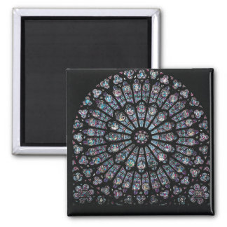 North transept rose window square magnet