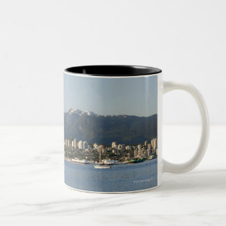 North Vancouver Skyline and Waterfront viewed Two-Tone Coffee Mug