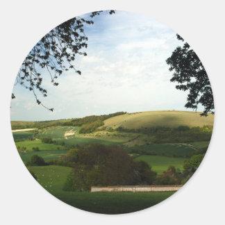 North Wessex Downs Classic Round Sticker