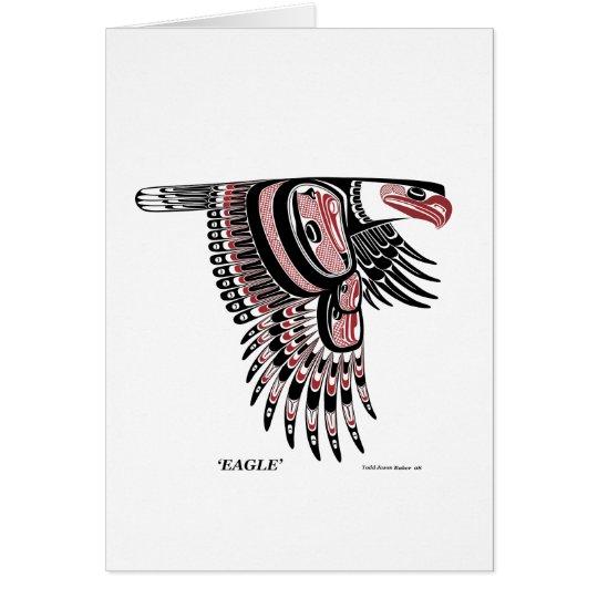 North West Coast Native Eagle Card