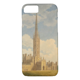 North-west view of Fonthill Abbey (w/c on paper) iPhone 8/7 Case