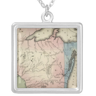 North Western and Michigan Territories Silver Plated Necklace